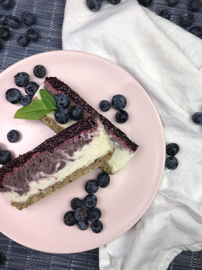 Dairy-Free Blueberry Cheesecake