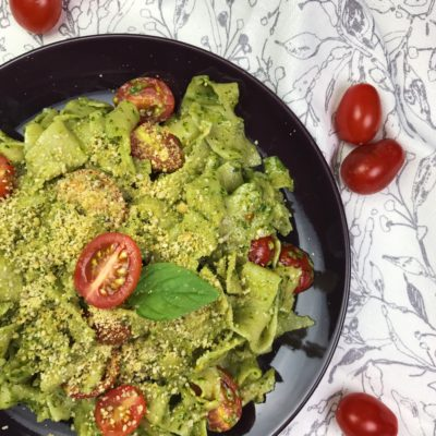 Vegan Pesto with Spinach and Thai Basil